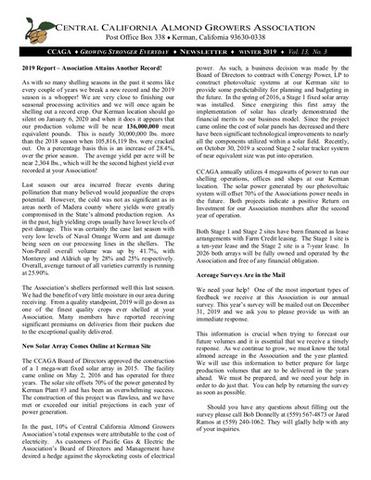 Winter 2029 Newsletter